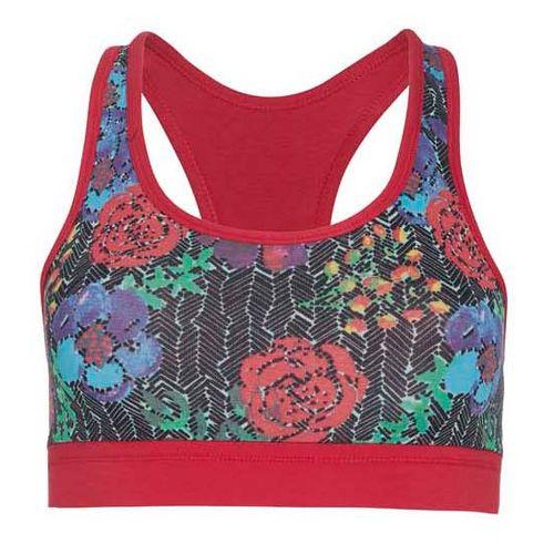 Womens Tasc Performance Endurance Print Sports Bra Bras - Kabloom/Red Hot XL