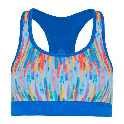 Womens Tasc Performance Endurance Print Sports Bra Bras - Rainbow/Dory Blue L