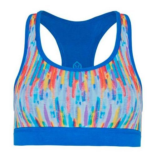 Womens Tasc Performance Endurance Print Sports Bra Bras - Rainbow/Dory Blue M