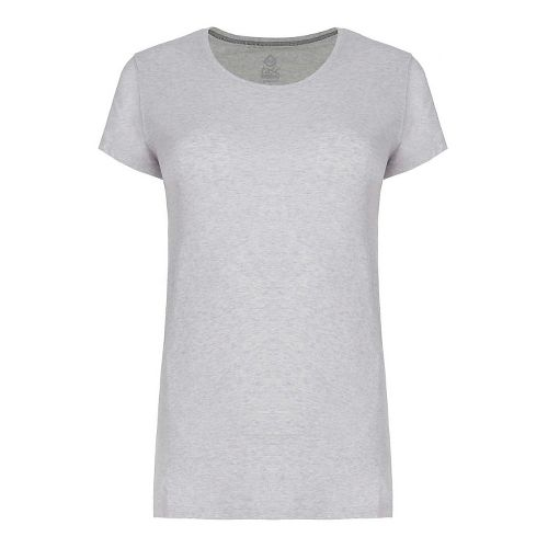 Womens Tasc Performance 365 Crew Short Sleeve Technical Tops - Light Heather Grey XS