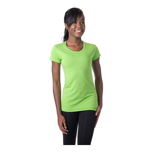 Womens Tasc Performance 365 Crew Short Sleeve Technical Tops - Green Flash XS
