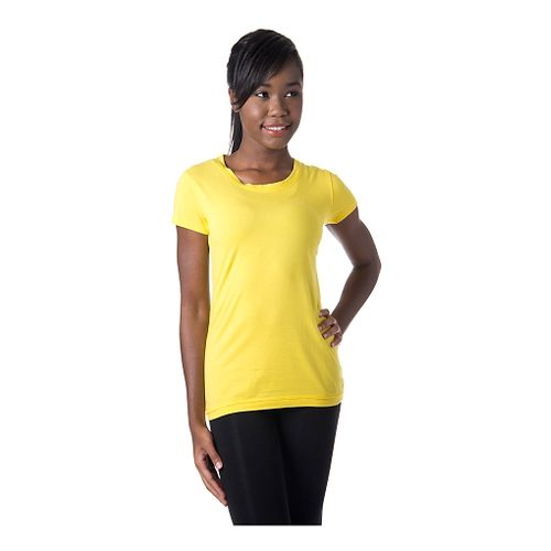 Womens Tasc Performance 365 Crew Short Sleeve Technical Tops - Maize XS