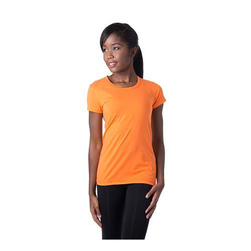 Womens Tasc Performance 365 Crew Short Sleeve Technical Tops - Nectarine L