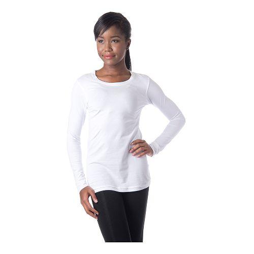 Womens Tasc Performance 365 Crew Long Sleeve No Zip Technical Tops - White L