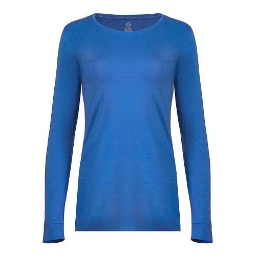 Womens Tasc Performance 365 Crew Long Sleeve Technical Tops - Dory Blue M