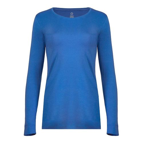 Womens Tasc Performance 365 Crew Long Sleeve Technical Tops - Dory Blue XS