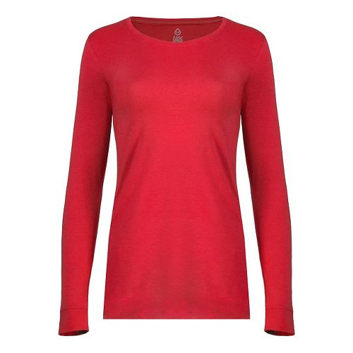 Womens Tasc Performance 365 Crew Long Sleeve Technical Tops - Red Hot XS
