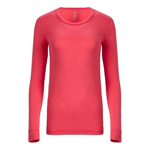 Womens Tasc Performance 365 Crew Long Sleeve Technical Tops - Flamingo S