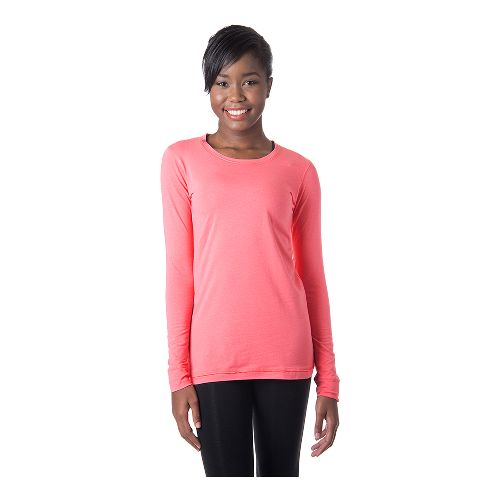 Womens Tasc Performance 365 Crew Long Sleeve No Zip Technical Tops - Conch XS