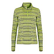 Womens Tasc Performance Sideline 1/4-Zip Printed Long Sleeve Technical Tops