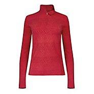 Womens Tasc Performance Sideline 1/4-Zip Printed Long Sleeve Technical Tops