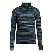 Womens Tasc Performance Sideline Printed Long Sleeve Half Zip Technical Tops