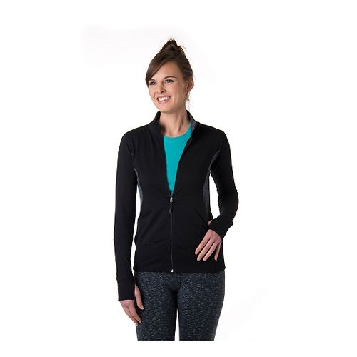 Womens Tasc Performance D2D (Dawn to Dusk) Lightweight Jacket - Black/GraniteHeather L