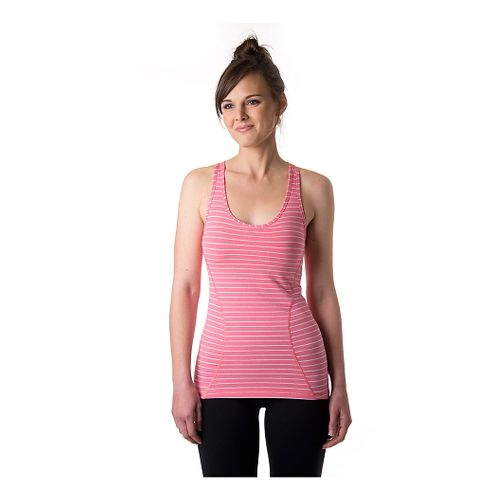 Womens Tasc Performance Pace Racer Bra Tank Technical Tops - Conch/Ash Heather M