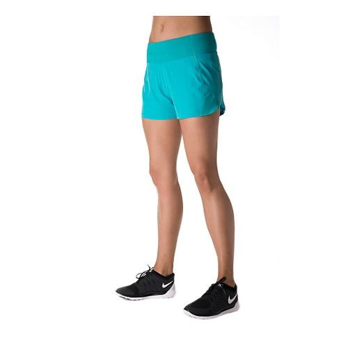 Womens Tasc Performance Verve Unlined Shorts - Baltic/Green Flash XS