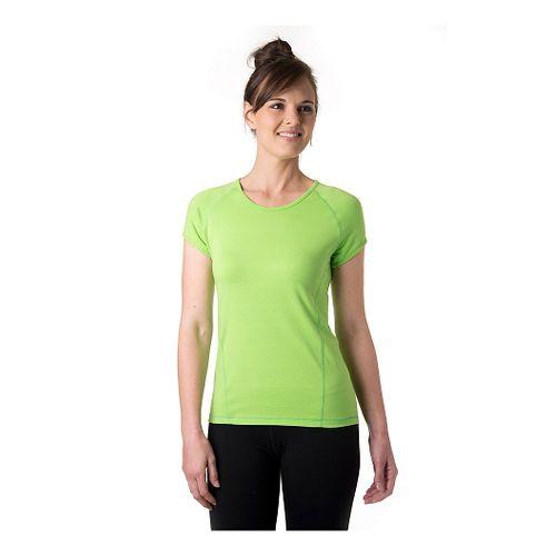 Womens Tasc Performance Victory Crew Short Sleeve Technical Tops - Green Flash XS
