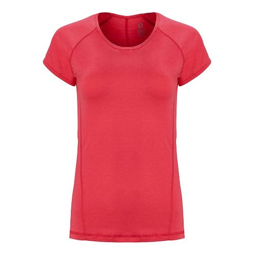 Womens Tasc Performance Victory Crew Short Sleeve Technical Tops - Flamingo L
