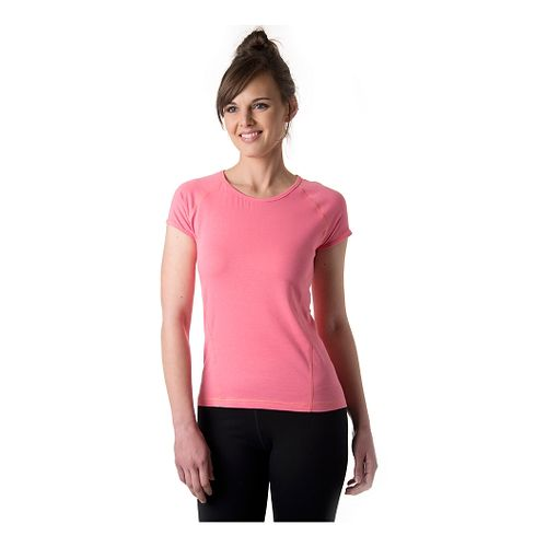 Womens Tasc Performance Victory Crew Short Sleeve Technical Tops - Conch XS