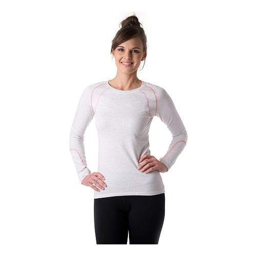 Womens Tasc Performance Aspire T Update Long Sleeve No Zip Technical Tops - Ash Heather/Conch ...