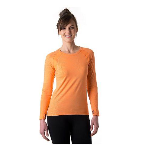 Womens Tasc Performance Aspire T Update Long Sleeve No Zip Technical Tops - Nectarine Dot ...