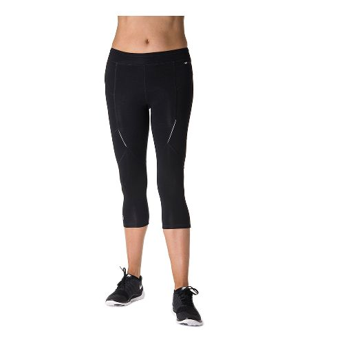 Womens Tasc Performance Sprinter Crop Capri Tights - Black XL