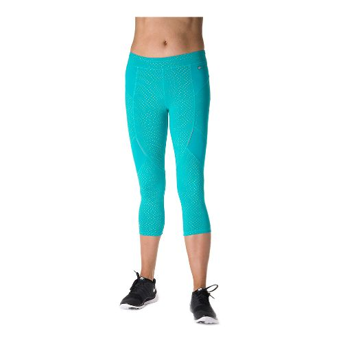 Womens Tasc Performance Sprinter Crop Capri Tights - Baltic Dot L