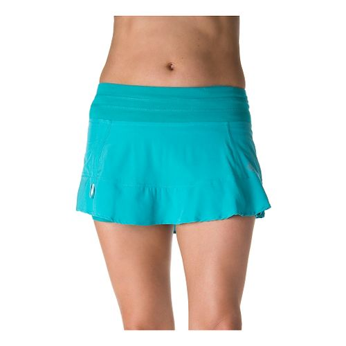 Womens Tasc Performance Rhythm Skort Fitness Skirts - Baltic/Baltic Dot XS
