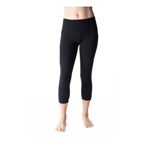 Womens Tasc Performance Utopia Crop Tight Capri Tights - Black XS