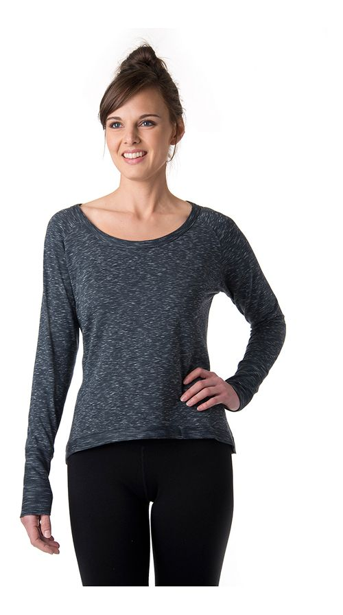 Womens Tasc Performance Bywater Hi-Low Sweatshirt Long Sleeve Technical Tops - Granite Heather XS