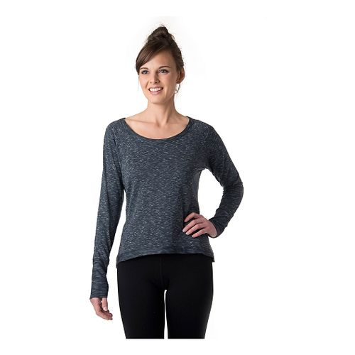 Womens Tasc Performance Bywater Hi-Low Sweatshirt Long Sleeve Technical Tops - Granite Heather M