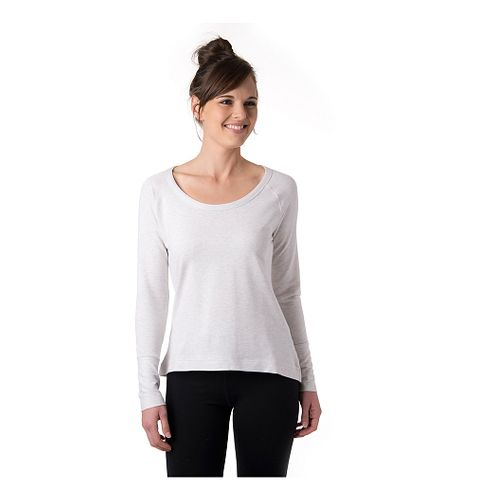 Womens Tasc Performance Bywater Hi-Low Sweatshirt Long Sleeve Technical Tops - Ash Heather XS