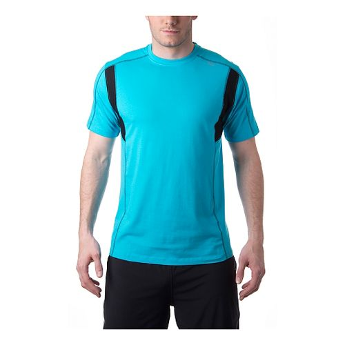 Mens Tasc Performance Charge T Short Sleeve Technical Tops - Mt. Lake/Black M