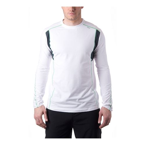 Mens Tasc Performance Charge Long Sleeve No Zip Technical Tops - White/Island Green XL