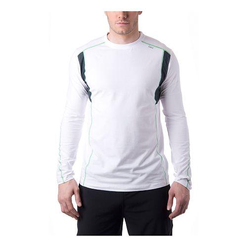 Mens Tasc Performance Charge Long Sleeve No Zip Technical Tops - White/Island Green XXL