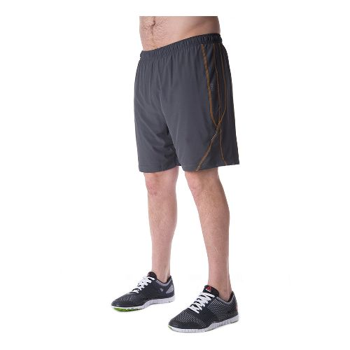 Mens Tasc Performance Propulsion Lined Shorts - Gunmetal/Orange XXL