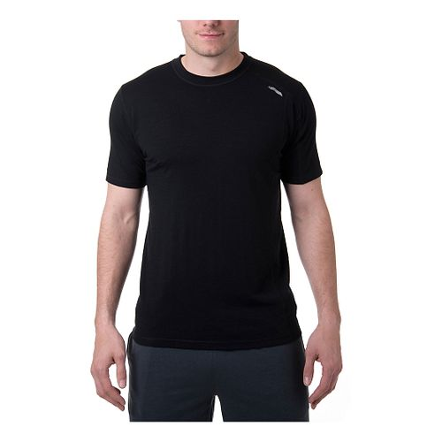 Mens Tasc Performance Elevation Merino T Short Sleeve Technical Tops - Black XXL
