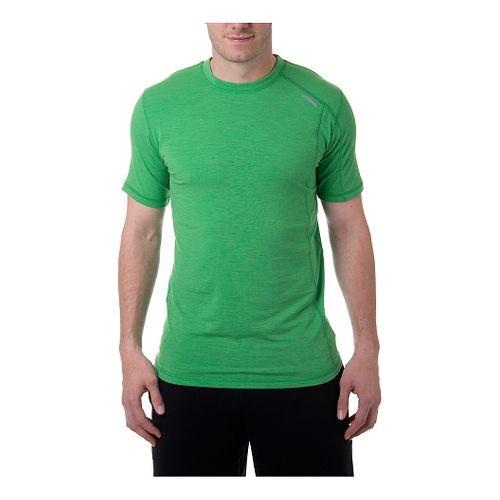 Mens Tasc Performance Elevation Merino T Short Sleeve Technical Tops - Island Green L