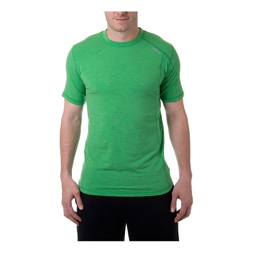Mens Tasc Performance Elevation Merino T Short Sleeve Technical Tops - Island Green XXL