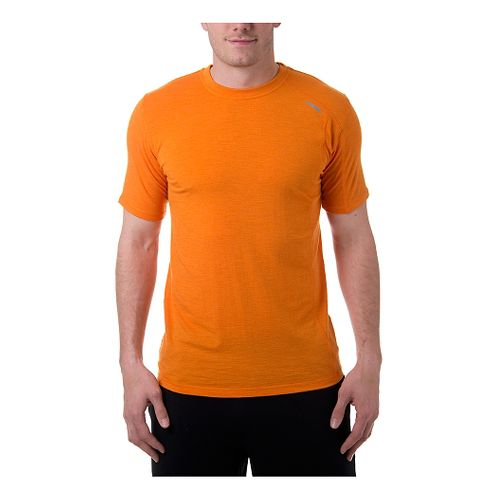 Mens Tasc Performance Elevation Merino T Short Sleeve Technical Tops - Atomic Orange M