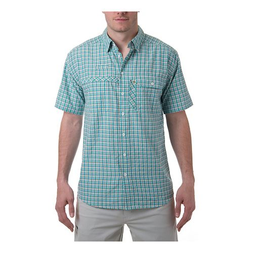 Mens Tasc Performance Ramble Shirt Short Sleeve Technical Tops - Mt. Lake Plaid M