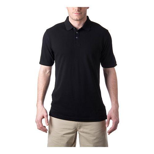 Mens Tasc Performance St.Charles Pique Polo Short Sleeve Technical Tops - Black L