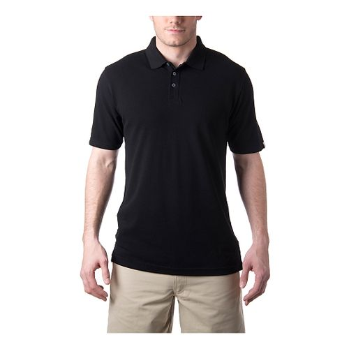 Mens Tasc Performance St.Charles Pique Polo Short Sleeve Technical Tops - Black XL
