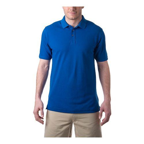 Mens Tasc Performance St.Charles Pique Polo Short Sleeve Technical Tops - Cobalt M