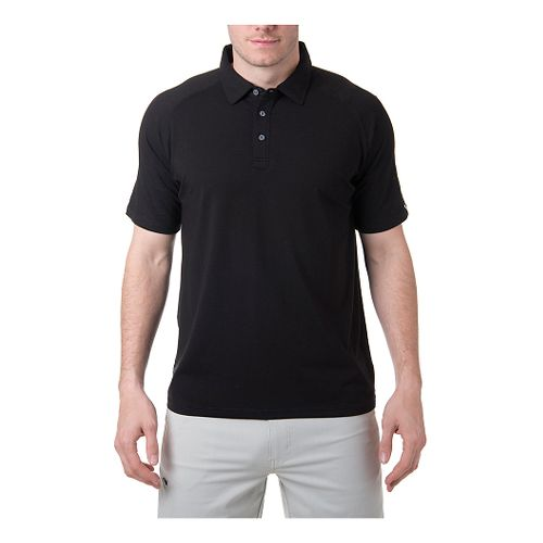 Mens Tasc Performance Jackson Polo Short Sleeve Technical Tops - Black L