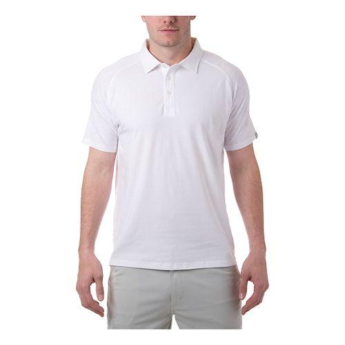 Mens Tasc Performance Jackson Polo Short Sleeve Technical Tops - White S