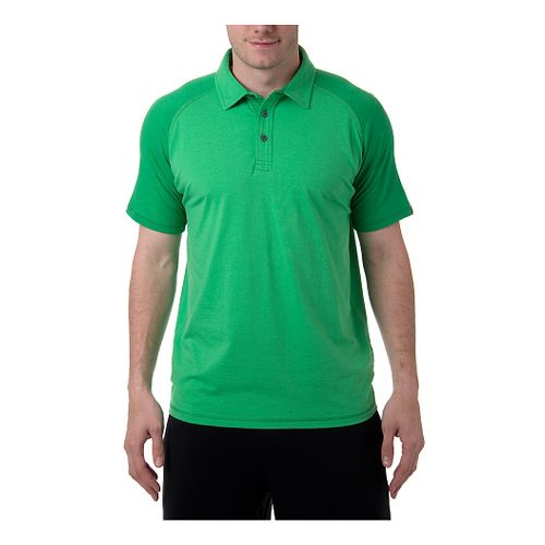 Mens Tasc Performance Jackson Polo Short Sleeve Technical Tops - Island Green S