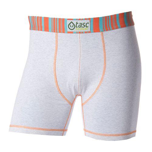 Mens Tasc PerformanceTouch Boxer Brief Underwear Bottoms - Ash Heather/Orange L