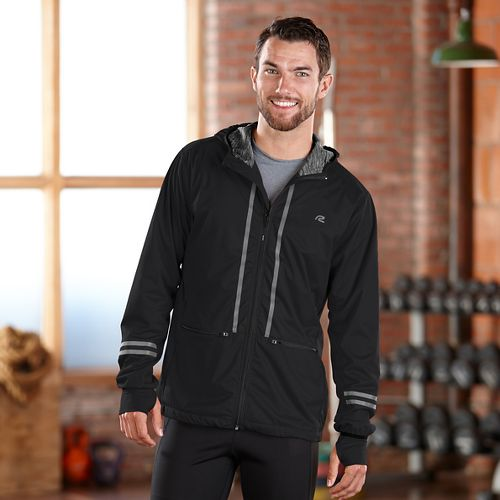 Mens Road Runner Sports Glow Rider Outerwear Jacket - Black L