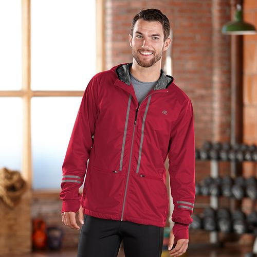 Mens Road Runner Sports Glow Rider Outerwear Jacket - Chili Pepper M