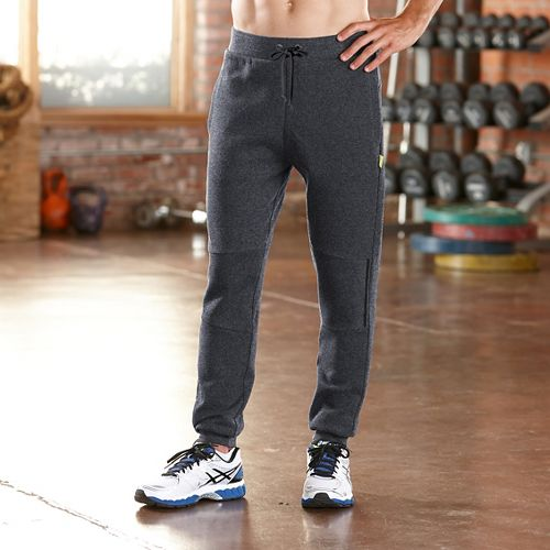 Mens Road Runner Sports Jog On Jogger Full Length Pants - Heather Charcoal L
